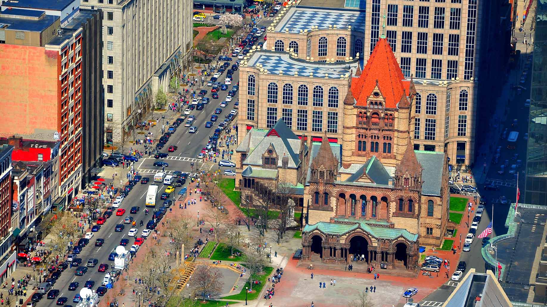 traffic in boston's copley square