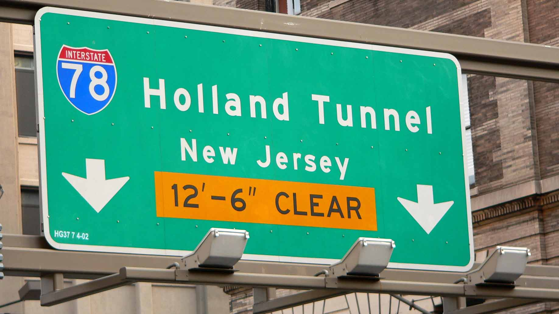 holland tunnel sign new jersey new york city