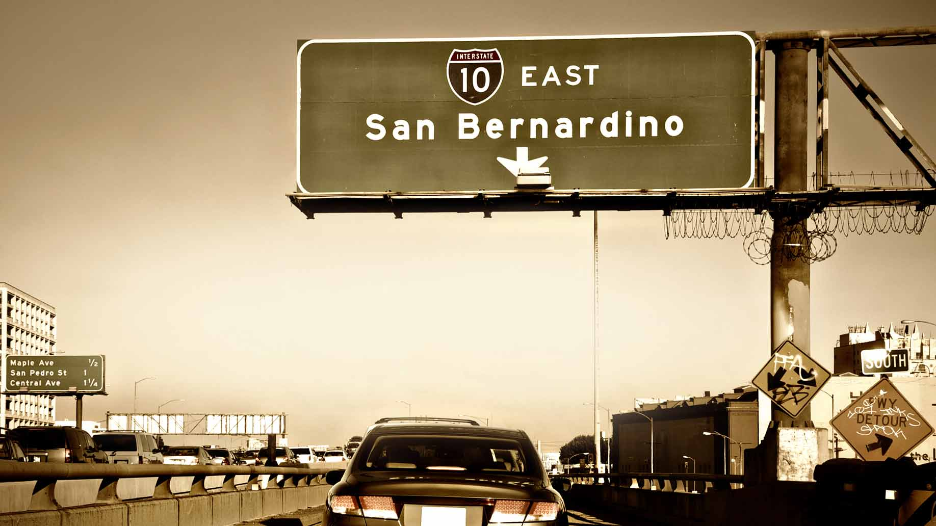 traffic on san bernardino highway