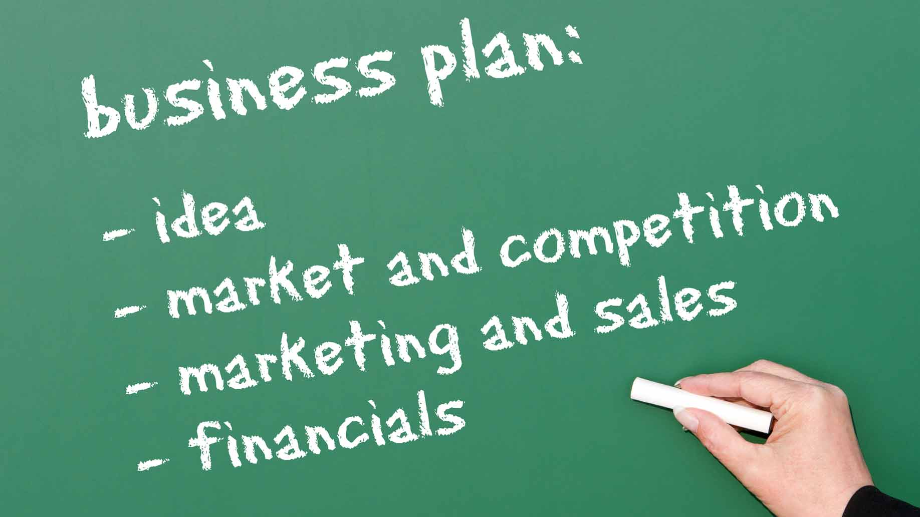 business plan chalkboard