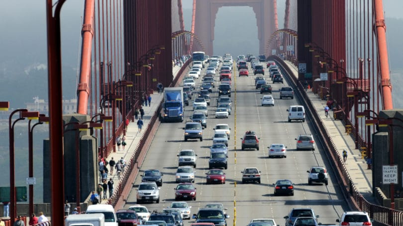 San Francisco California Traffic Commuters