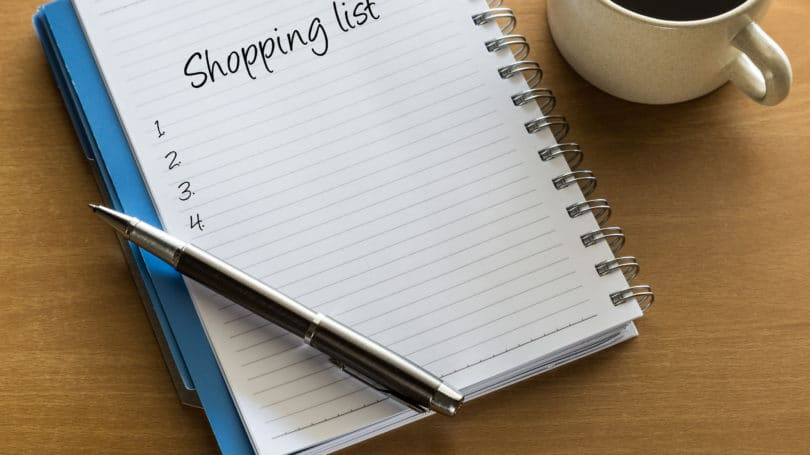 Make List Before Shopping