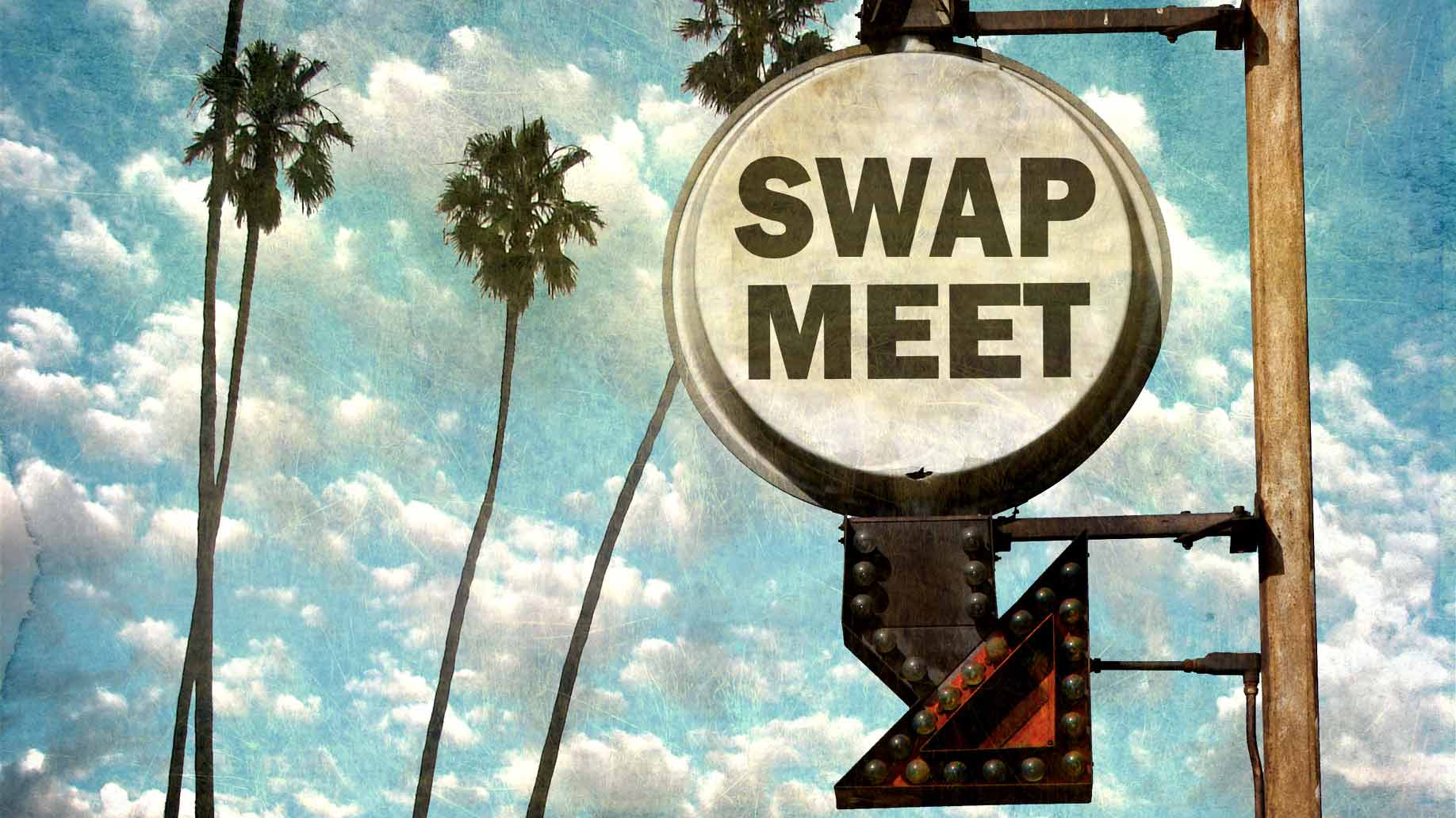swap meet sign