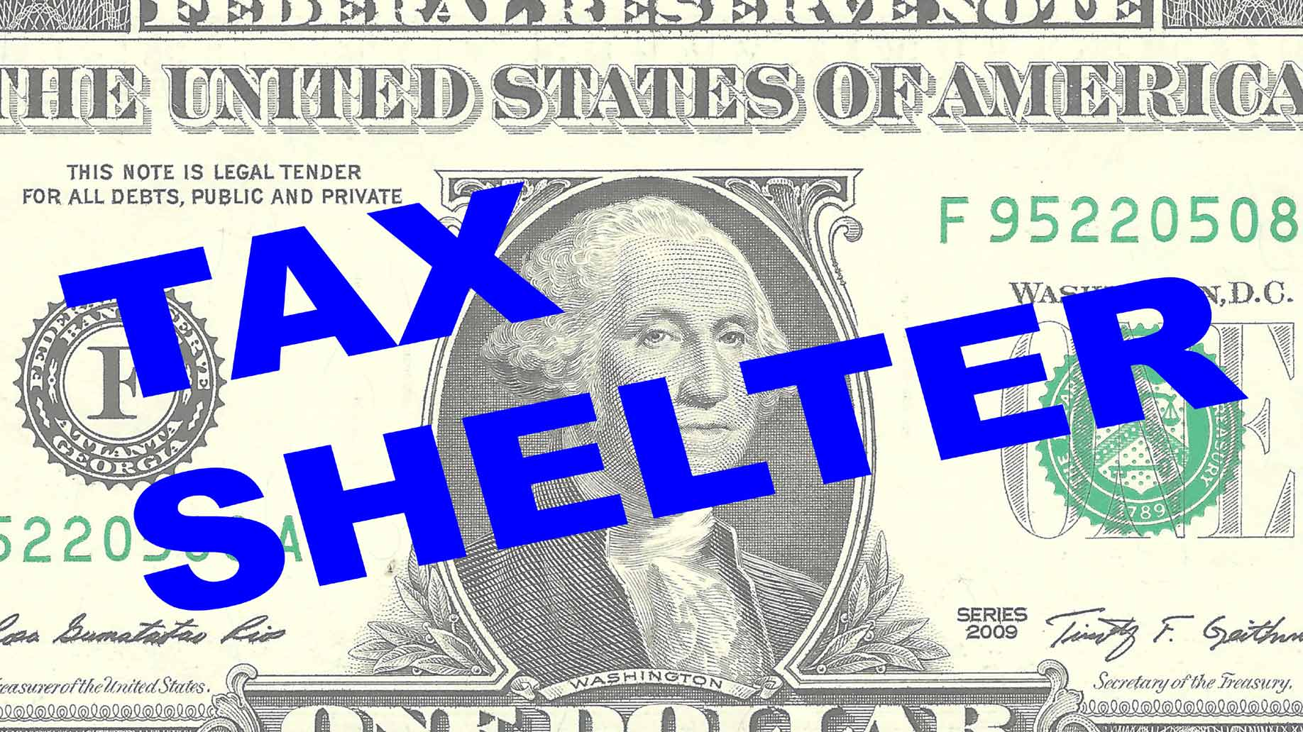 tax shelter dollar bill