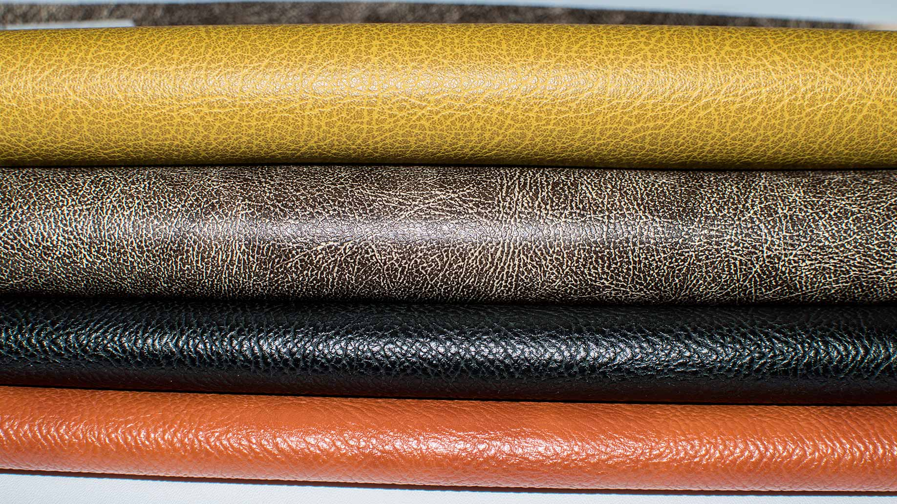 colorful stack of synthetic leather material