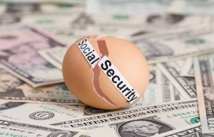 social security broken egg