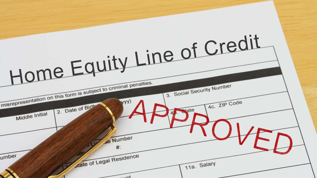 home equity line of credit (heloc) form approved