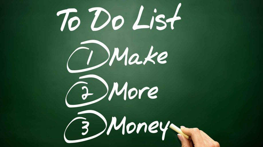 chalkboard to-do list make more money