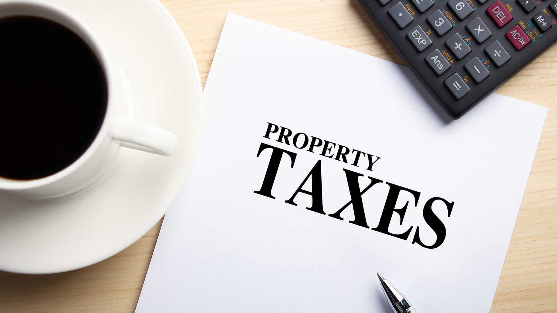 property taxes on paper