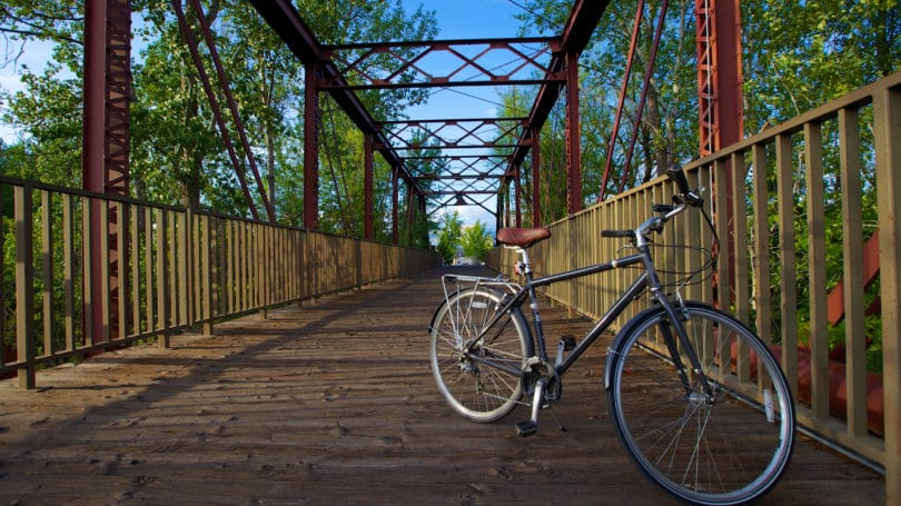 Boise Idaho Bicycle Greenery Bridge