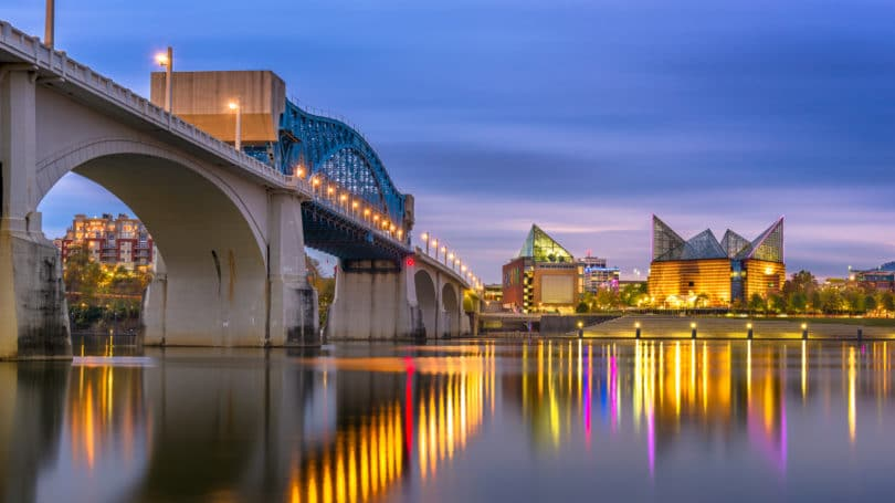 Chattanooga Tennessee Downtown Bridge View