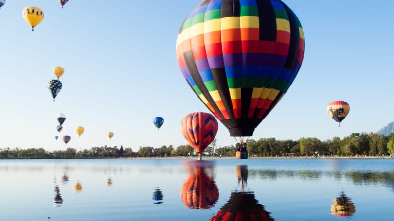 Colorado Springs Air Balloon Sky Lake