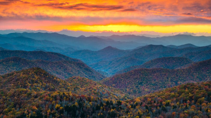 North Carolina Brecard Blue Ridge Mountains Sunrise Landscape