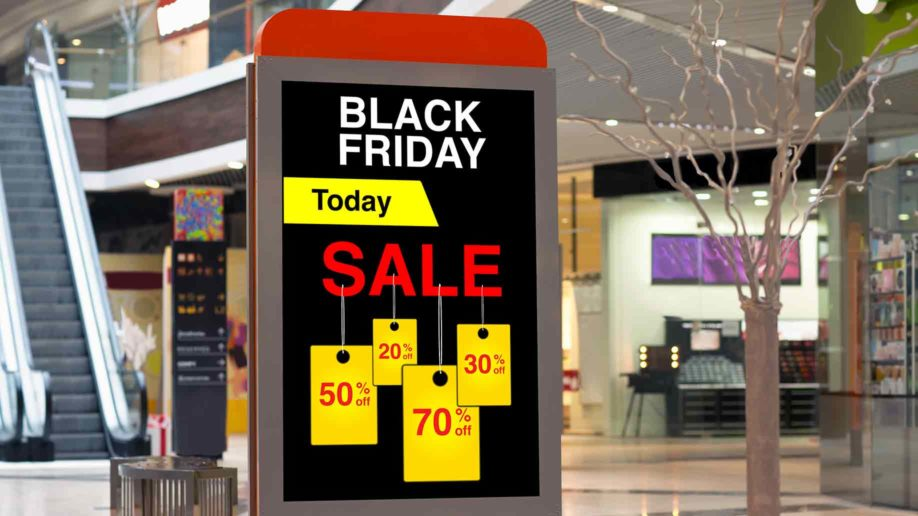 billboard on black friday discounts