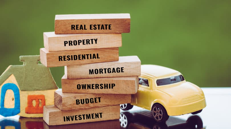 Real Estate Home Ownership Structure Factors Planning Stacked Blocks