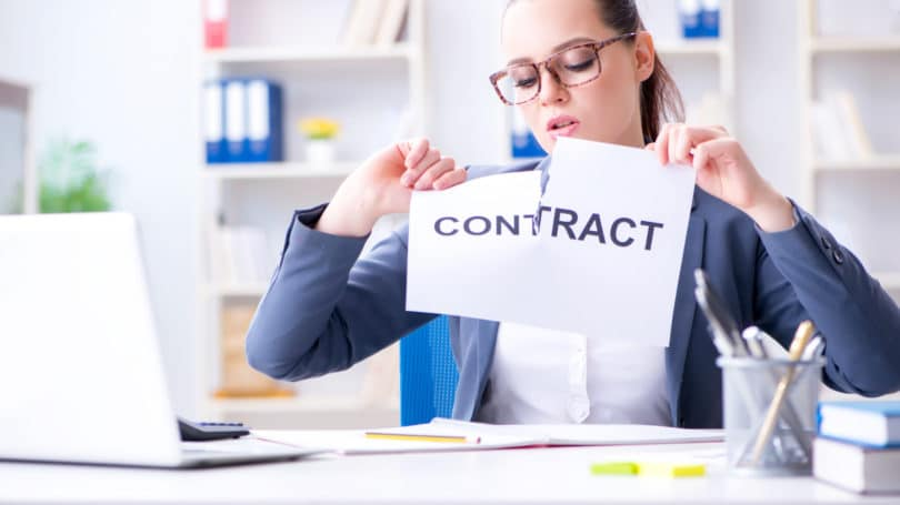 Ripping A Contract Cancel Void