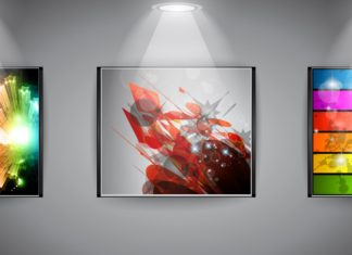 Gallery Art Exhibit Frame Abstract