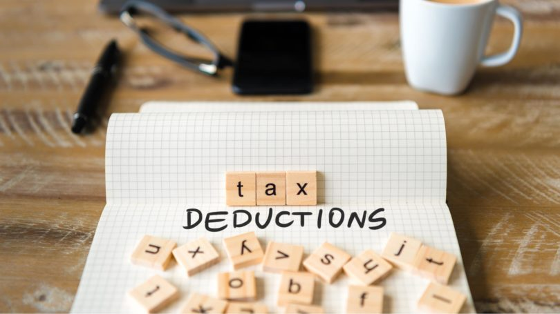Tax Deductions Letters Scrabble