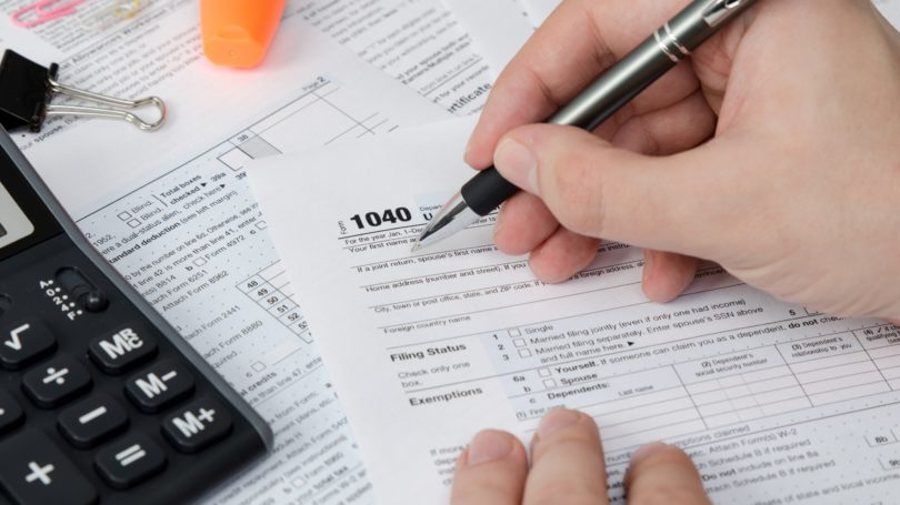 Tax Documents 1040 Pen Calculator Forms