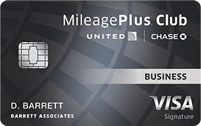 united mileageplus club business card