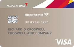 asiana airlines business visa card