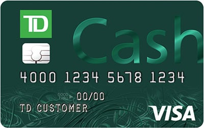 td cash credit card