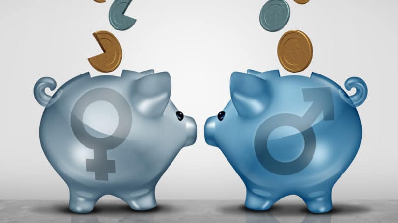 Piggy Bank Man Woman Savings Gap