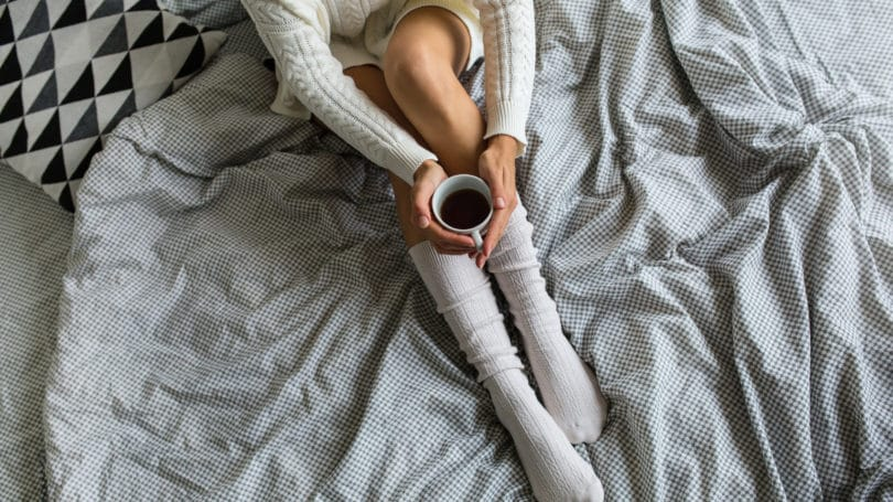 Bed Sheets Grey Coffee Cup