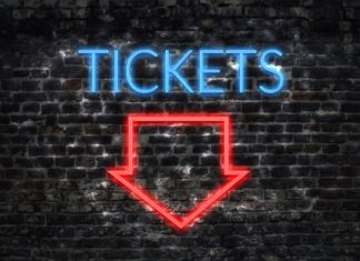Tickets Sale Arrow Neon Sign