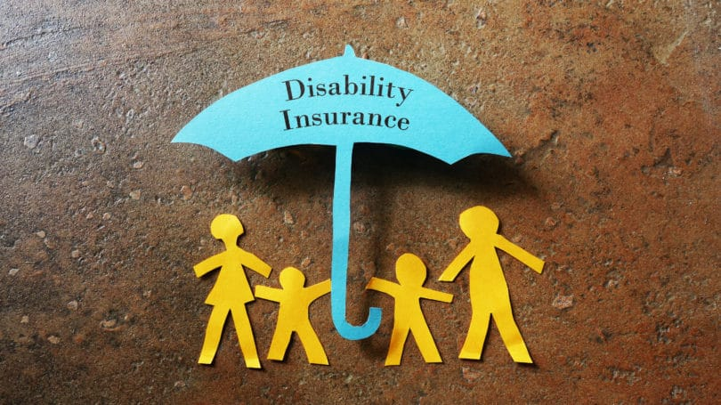 Disability Insurance Blue Umbrella Paper Cut Out