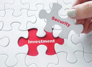 Security Investment Puzzle Piece Red White
