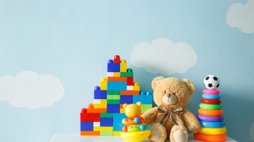 Toys Stuffed Bear Legos Clouds