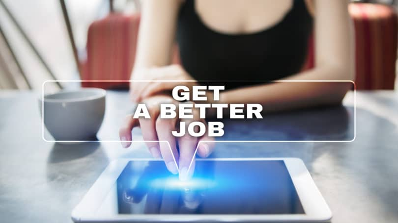 Get A Better Job Woman Ipad Cup Search