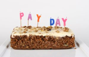 Pay Day Carrot Cake Candles Blown