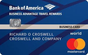Bank Of America Business Advantage Travel Rewards Card