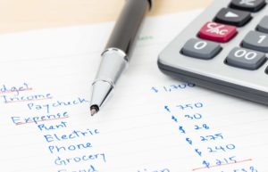 Budget Income Expenses Pen Calculator