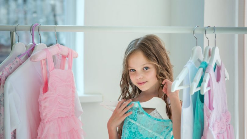 Little Girl Wardrobe Dresses Rack