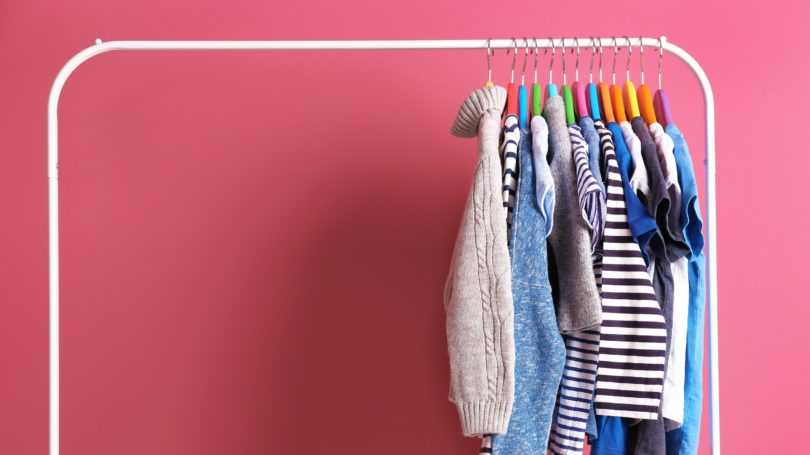 Rack Kids Clothes Minimal Organized