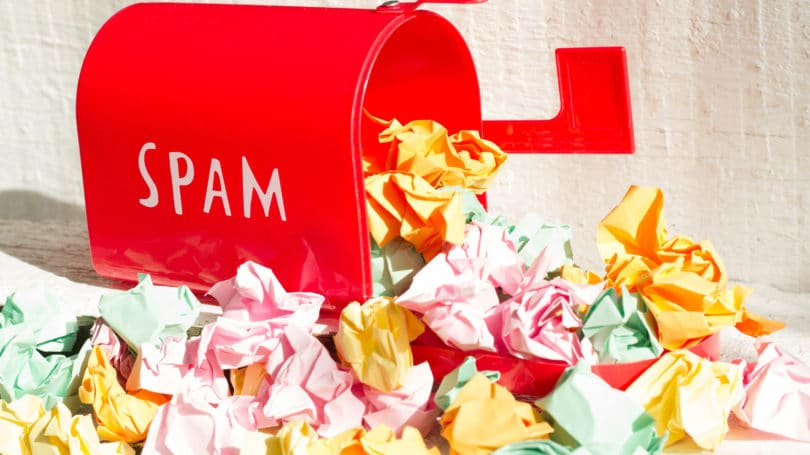 Spam Mailbox Garbage Crumbled Paper