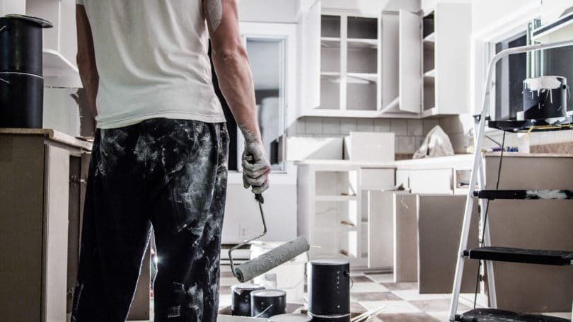 Diy Renovating Kitchen Paint Tiles Cabinets