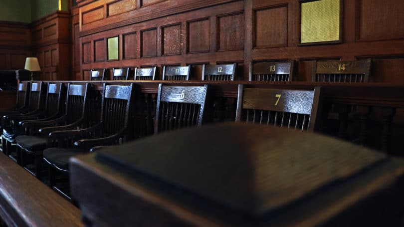 Jury Trial Chairs Courtroom