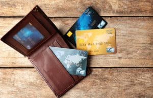 Multiple Credit Cards Brown Leather Wallet