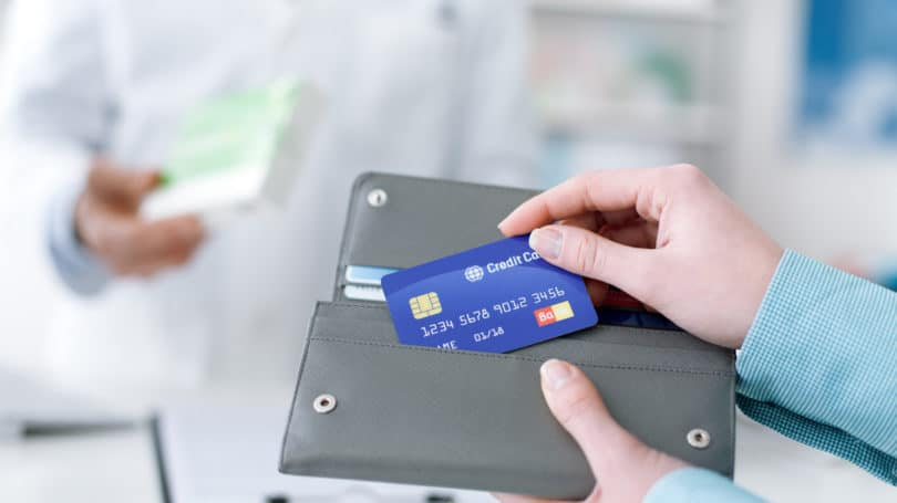 One Credit Card Wallet Purchasing Pharmacy