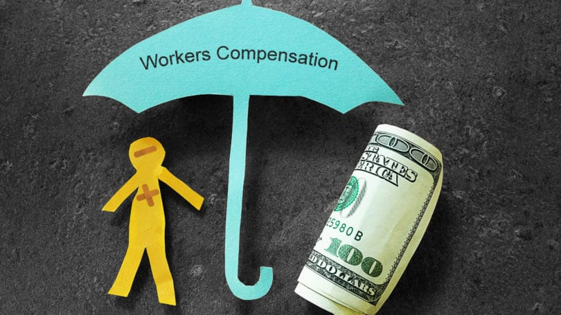 Workers Compensation Cash Umbrella Human Cut Out