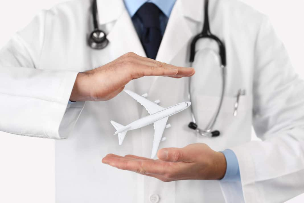Airplane Doctor Travel Insurance Health Stethoscope