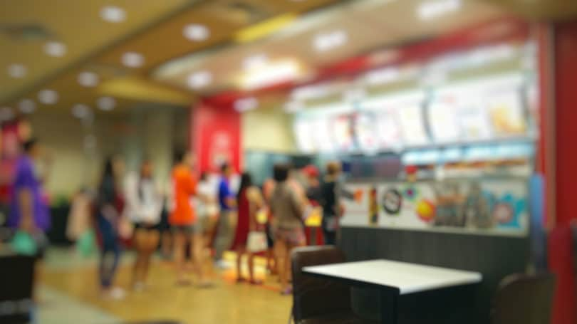 Fast Food Restaurant Cashier Counter Order Line