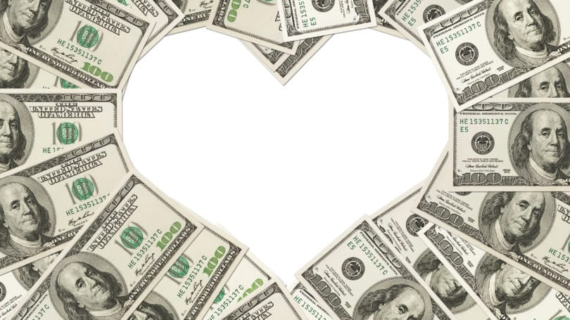 Heart Shaped Cash Intimacy With Money