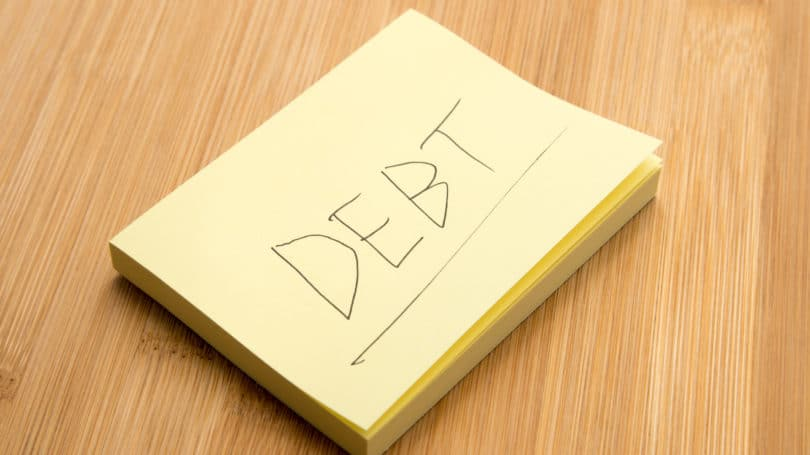 Debt Post It Note Table