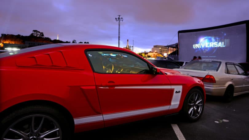 Drive In Movie Theater Outdoors Cars