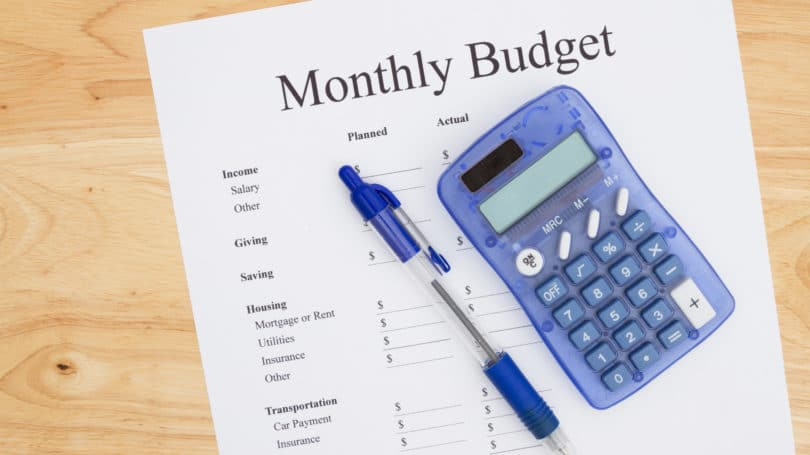 Monthly Budget Calculator Pen